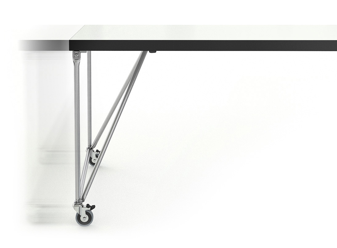 tischsystem rackpod der schlichte arbeitstisch von system 180. Black Bedroom Furniture Sets. Home Design Ideas